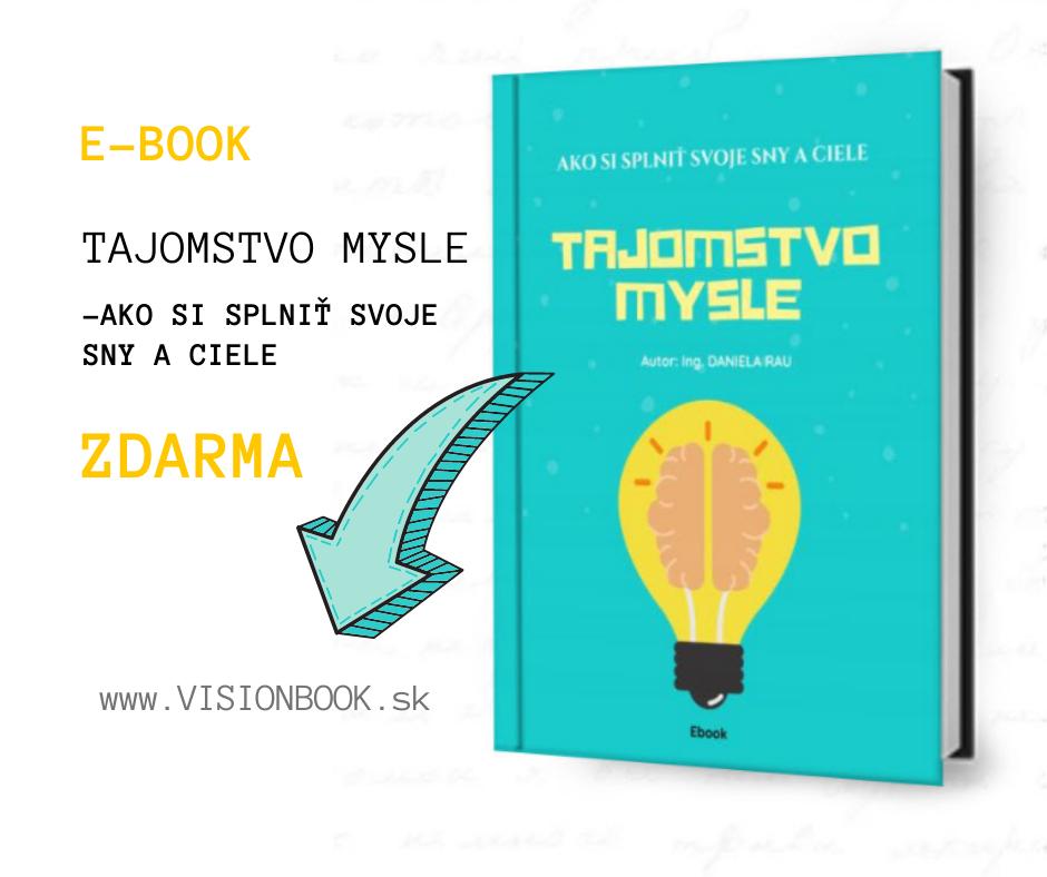 FB banner VISION BOOK ebook zdarma Tajomstvo mysle